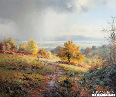 LE0992. Distant Storm by Rex Preston. <p><p><b>Less than 140 copies of this edition available - sold out at the publisher.</b><b><p>Signed limited edition of 395 prints.<p> Size 24 inches x 20 inches (61cm x 51cm)