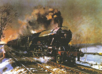 Flying Scotsman by Terence Cuneo
