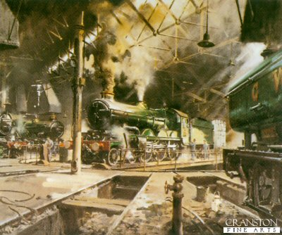 Castles at Tyseley by Terence Cuneo