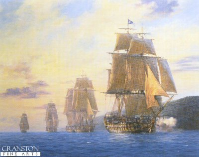 HMS Agamemnon by Geoff Hunt.