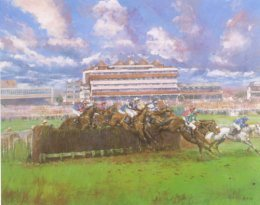 The 1997 Hennessy Cognac Gold Cup (Sir Peter OSullevans Last Race) by Claire Eva Burton.