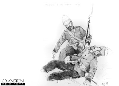 Cpl Allen and Cpl Lyons, Rorkes Drift 1879 by Mark Churms. (P)