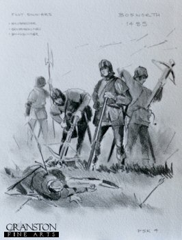 Bosworth 1485 - Halberdier, Crossbowmen and Handgunner by Mark Churms. (P)