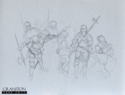 Halberdiers - Bosworth 1485 by Mark Churms. (P)