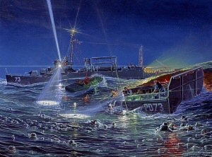 Twilight of Perseverance, USS Indianapolis - Rescue at Sea by Mark Churms.