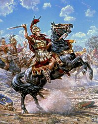 Battle of Issus 333 B.C. by Mark Churms.