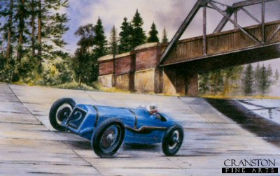 G P Delage at Brooklands by Bob Murray
