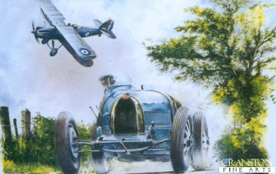 Bugatti Type 35 and Hawker Hector by Bob Murray