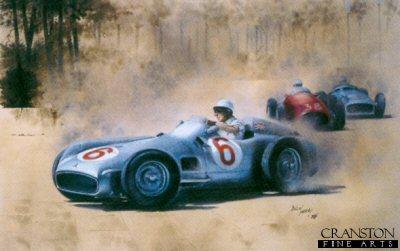 Mercedes Benz W196 driven by Stirling Moss, 1955 monaco Grand Prix by Bob Murray.