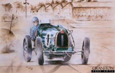 E Bugatti Type 51 at Brooklands by Bob Murray