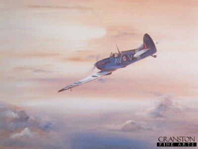 Flying into Dusk (Spitfire) by Freddy Stringer.