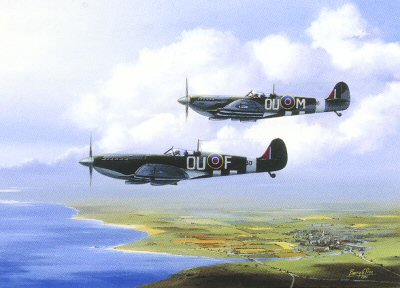 MkIX Spitfires, June 1944 by Barry Price.