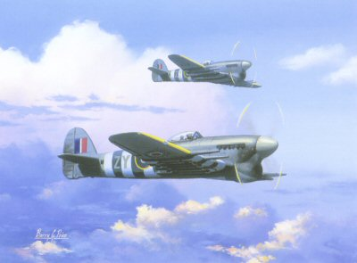 Hawker Typhoons by Barry Price.