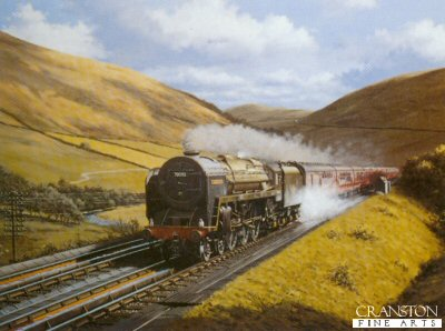 Dillicar Water Troughs Britannia Class Loco 70052 Firth of Tay by Barry Price.