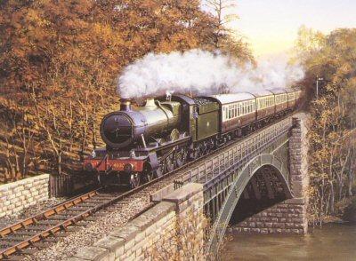 Hagley Hall GWR by Barry Price.