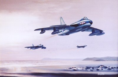 FG89 Hunters, No.1 Squadron RAF. XE624 leading.