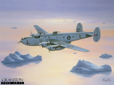 N67.  Avro Shackleton MR.Mk2 - 1950s by Barry Price. <b><p>Open edition print. <p> Image size 16 inches x 12 inches (41cm x 31cm)