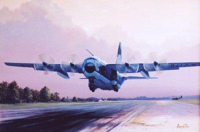 Lockheed Hercules CMK1, Royal Air Force, XV179 taking off.