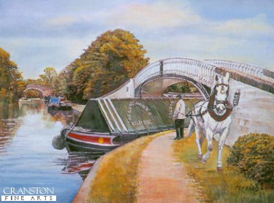 Horse Towing Canal Freight by Kevin Parrish.