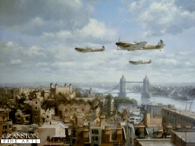 Spitfires Over London by John Young.