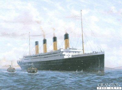 Titanic - Maiden Voyage - Irish Farewell, Queenstown, Eire by E. D. Walker.