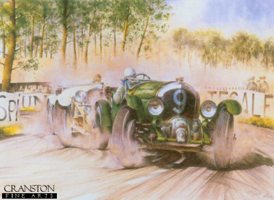 Duel at Le Mans 1930 (Bentley v Mercedes) by Bob Murray