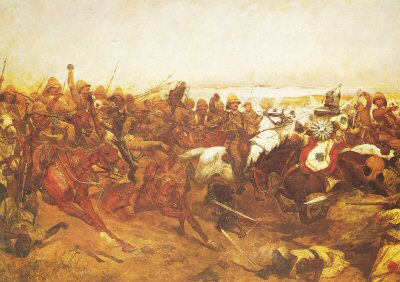 The Charge of the 21st Lancers at Omdurman by Richard Caton Woodville. (PC)