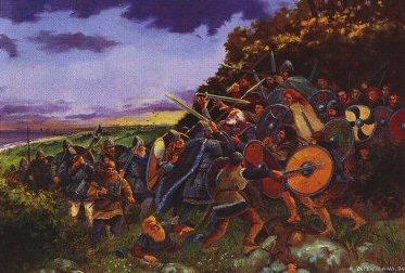 Death of Brian Boru - Clontarf by David Pentland. (PC)