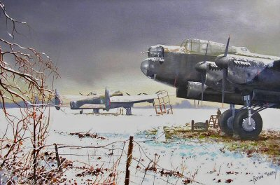 Snowbound Lancasters by Robin Smith.