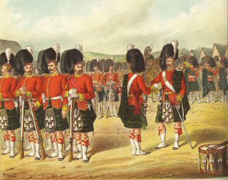 The Princess Louises Argyll and Sutherland Highlanders Forming on Parade by Richard Simkin.