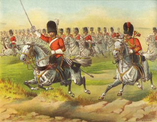 A Charge of the 2nd Dragoons, Royal Scots Greys by Richard Simkin.