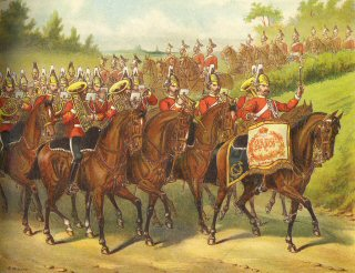 Band of the 2nd Dragoon guards (Queens Bays) by Richard Simkin.