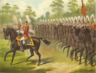 The 1st Life Guards, Passing her Majesty in Review Order by Richard Simkin.
