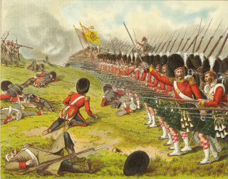 The Advance of the 93rd Sutherland Highlanders at the Battle of Alma 1854 by Richard Simkin.