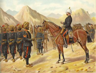 Punjab Frontier Force No1 Kohat Mountain Battery by Richard Simkin (P)