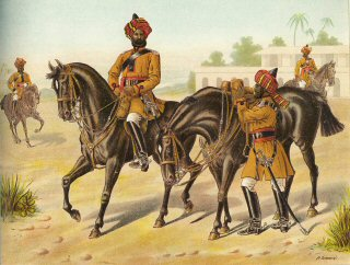 The 1st Bengal Cavalry (Review Order) by Richard Simkin (P)