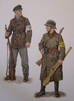 Volkssturmman, East Prussia, October / November 1944 by Stephen Andrew. (P)