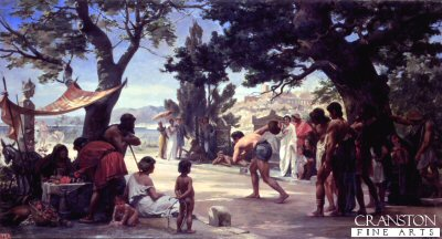 Throwing the Discus by Eduard Joseph Danton.