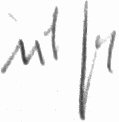 Photograph of the signature of Adolf Dickfeld (deceased)
