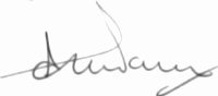The signature of Flight Lieutenant Alan Page