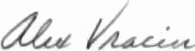 The signature of Commander Alex Vraciu USN