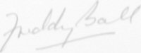 The signature of Air Marshall Sir Alfred (Freddy) Ball, KCB DSO DFC