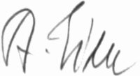 The signature of Alfred Eick