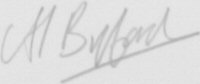 The signature of Wing Commander Alistair J. Byford MA RAF
