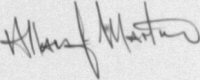 The signature of Allan Martin