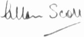 The signature of Flight Lieutenant Allan Scott DFM