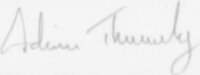 The signature of Squadron Leader A P Thurley