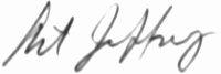 The signature of Colonel Arthur Jeffrey (deceased)