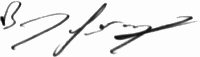 The signature of Barry Geraghty