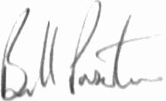 The signature of Wg Cdr Bill Pixton AFC